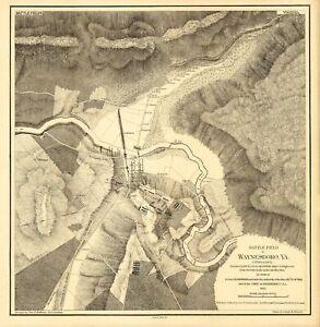 Civil War - Waynesboro Virginia - Holland 1865 - 23.00 x 23.55