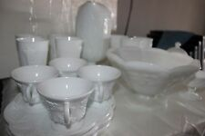 Vintage white Indiana Milk Glass Harvest Grape lots