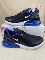 New Men's Nike Air Max 270 Running Shoes Size 10.5 Black White Blue DC1858-001