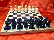 Vintage OLD russian USSR wooden 30x30 cm CHESS SET 1970s