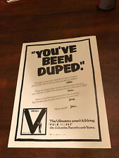 "1978 Vintage 8X10 Album Promo Print Ad For The Vibrators ""Pure Mania"""