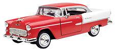 New Motormax - 1955 Chevy Bel Air Red Premium Die Cast 1:24 - 73229Ac