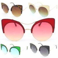 Large Round Lens Cat eye Fashion Sunglasses Women's Oversized