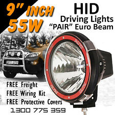 HID Xenon Driving Lights - Pair 9 Inch 55w Euro Beam 4x4 4wd Off Road 12v 24v