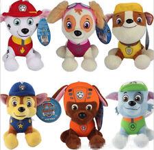"20CM 8"" PAW PATROL COMPLETE SET of Cute Dogs plush Doll Dog Toy Chase Zuma Skye"