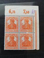 German Stamps -- Germany 1916 98b Block (SCOTT 275 USD)