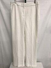 CHELSEA 28 PLEATED CLASSIC PLEATED WIDE LEG DRESS PANTS SNOW WHITE SZ 12 NEW $88