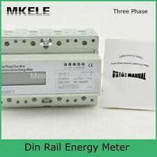 MK-LEM021JC 3 Phase Din Rail KWH Watt Hour Energy Meter LCD