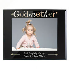 PERSONALISED Godmother Gift Photo Picture Frame Engraved Christening / Babtism