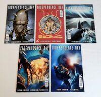 Titan INDEPENDENCE DAY movie comics #1 2 3 4 5 ~ FULL SET