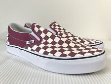 Vans Classic Slip-On Checkerboard Dry Rose White VN0A38F7U7A NWB DS Men's SZ 11