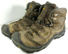 Keen Durand Mid Leather Hiking Boots Shoes Brown Lace Up Size 13 US Men's
