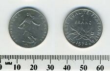 France 1974 - 1 Franc Nickel Pre-Euro Coin - The Seed Sower
