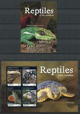 Nevis 2011 Reptilien Reptiles Schlange Schildkröte Iguana Postfrisch MNH