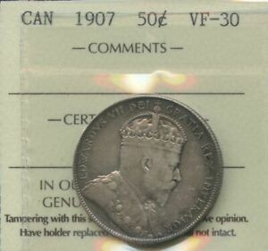 1907 Canada Fifty Cents - ICCS VF-30