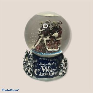 Irving Berlin's White Christmas Snow Water Globe Bing Crosby NOT WORKING READ
