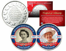 QUEEN ELIZABETH *Longest Reigning* Set of 2 Royal Canadian Mint Medallion Coins