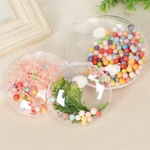 Plastic Flat Ball Wedding Candy Christmas Photo DIY Ornament Home Decor Bauble f