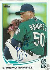 Erasmo Ramirez Signed Auto 2013 Topps Seattle Mariners MLB Card - COA - TB Rays