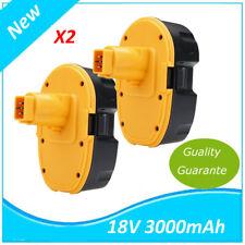 2 X18V 3.0Ah NI-MH Batterie for DeWalt DE9039 DE9095 DE9096 DE9098 DE9503 DC9096