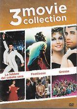 Dvd LA FEBBRE DEL SABATO SERA / FOOTLOOSE / GREASE ***John Travolta***...NEW