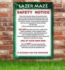 Lazer Maze, Bouncy Castle, Disco Dome, Inflatable Safety Sign, Parties