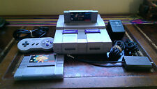 Super Nintendo Entertainment System White Console + Earthbound & Phalanx