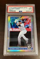 2018 Donruss Rated Rookie Optic HOLO Gleyber Torres RC #65 PSA 9 Mint Yankees