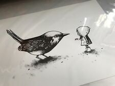 "Dran ""Learning to Fly"" - screen print - numbered edition of 100"