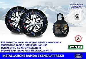 Catene da neve per Opel Insignia Grand Sport 215 60 16 R16 7 mm auto ruote kit