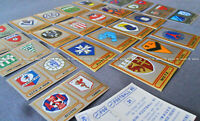"ULTRA RARE !! Vignettes Ecussons ""FRENCH FOOTBALL 85"" stickers, badges PANINI"