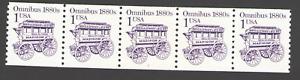 US. 2225. 1c. Omnibus 1880s. Coil PNC5. #1. Mint. NH. 1986