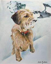 "ZARA HUDSON ORIGINAL ANIMAL OIL PAINTING ON CANVAS Yorkshire Terrier Dog11"" X 9"""