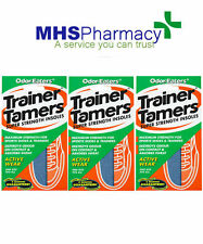 3 x ODOR-EATERS TRAINER TAMERS SUPER STRENGTH INSOLE - WASHABLE GOOD VALUE