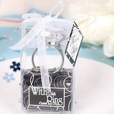 Bling Crystal Diamond Shape KeyRing Key Chain Napkin Ring Wedding Favor