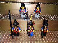 5 Lego Classic Castle Dragon Knights Ritter  Figuren König Minifig Waffen R24