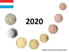 Série 8 pièces Euros Luxembourg 2020 - 1 centimes à 2 Euros UNC