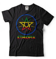 Ethiopia T-shirt Ethiopian Heritage Tee shirt Ethiopian Flag coat of arms Mens T