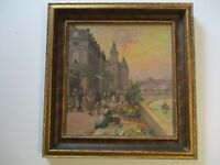SUPERB ANTIQUE OIL PAINTING IMPRESSIONIST IMPRESSIONISM 1920'S