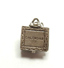 Vintage 925 Sterling Silver NUVO CALENDAR OPENS Charm Pendant 2.8g