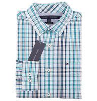 Tommy Hilfiger Men's Long Sleeve Custom Fit Plaid Casual Shirt - $0 Free Ship