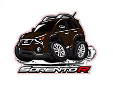 Character Sticker 7p 1set Brown For 10 11 Sorento R