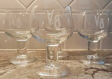 V-8 Vegetable Juice Stemmed Glass Bloody Mary Goblets Made in France