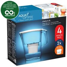 Aqua Optima Liscia 2.5L Fridge Jug with 2 x 60 Day Evolve Filters - 4 Month Pack
