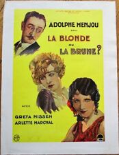 Adolphe Menjou 1927 French Art Deco Movie Poster: Blonde or Brunette?