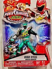 "Power Rangers Dino Super Charge  5"" Dino Steel Green Ranger"