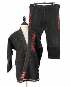 Hayabusa Jiu-Jitsu Gi Size A2 Black Uniform Kimono Read!