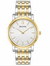 Bulova 98A208 Men's Two Tone White Dial Stainless Steel Watch