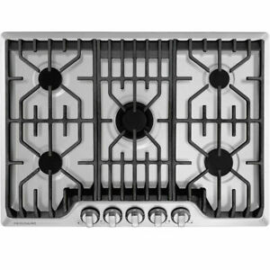 Frigidaire Professional 30-in 5 Burners Stainless Steel Gas Cooktop FPGC3077RS