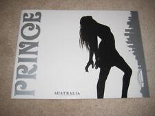 Prince  Wecome 2 America Australia Reverse Program Tour Book Tourbook W2A